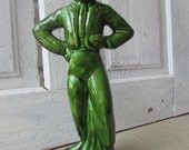 Green Flamenco dancer figurine 50's