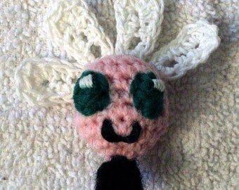 Tiny Parasprite crochet amigurumi plush