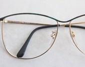 Vintage Forrest Green Wire Eyeglasses Frames