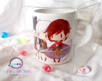 Mini Ceramic Mug: RWBY Ruby Weiss Blake Yang
