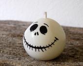 Halloween Candle - Jack Skellington Handmade Candle Nightmare Before Christmas Inspired Candle - Halloween Decor, Halloween Gift