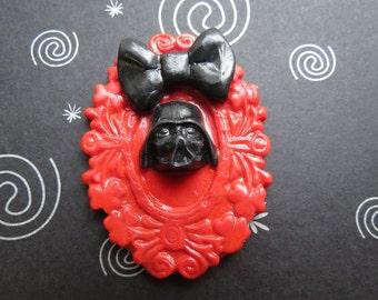 Darth Vader Pendant OR Brooch (red)