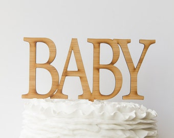 BABY Wooden Cake Topper