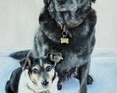 "10x12"" Original Oil Pet Portrait - Custom Dog Painting - Custom Pet Portrait"