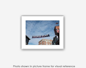 Boston Red Sox, Boston Photography, Fenway Park Banner, Photographs, Photos, Prints, Photo Greeting Cards, Baseball Photography