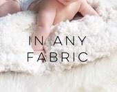 Baby Blanket Choose Any Fabric. The Cloud Blanket. Lovey. Faux Fur Baby Blanket. Minky Baby Blanket. Custom Baby Blanket. Baby Bedding.