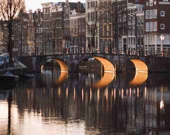Amsterdam Reflected - Three Bridges - Photography
