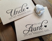 To my AUNT or UNCLE on my wedding day - Special THANKS - Notecard - Recycled - Eco Friendly