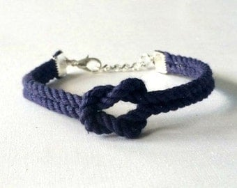 Adjustable Nautical Rope Knot Bracelet Navy Tie The Knot Bracelet