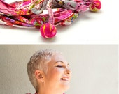 Hot Pink Scarf Necklace - Scarf wrap - Circle Scarf  – Hot pink Boho scarf