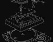 Analog Turntable Breakdown T-Shirt Retro DJ DeeJay Urban Hip Hop Scratch Vinyl Records Battle Funky Tee Shirt Tshirt Mens Womens S-3Xl