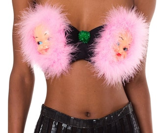 Say Hello to the Twins Furry Bra    Size: Bra 38