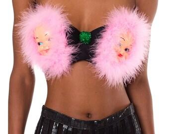Say Hello to the Twins Furry Bra    Size: Bra 38