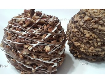 TWO Gourmet Chocolate Caramel Apples