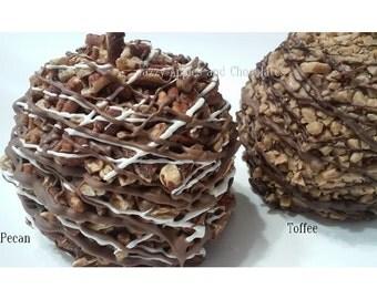 TWO Gourmet Chocolate Caramel Apples