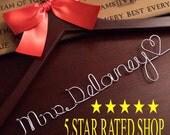 20% OFF SALE SALE/Wedding Dress Hanger, Personalized Bridal Hanger, Custom Wire Name Hanger, Bridal Gift