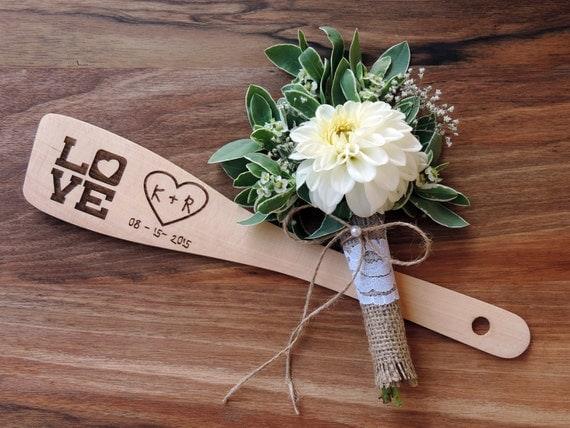 Personalized Wedding Gifts Kitchen : ... or Wedding Gift, Wedding Favor, Kitchen Decor Wooden Spoon - SET OF 25