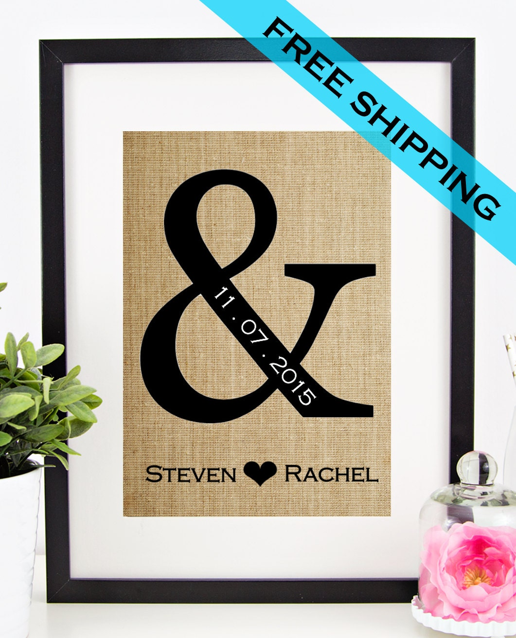 Appropriate Wedding Gifts For Older Couples : Personalized Wedding Gift for Couple Bridal Shower Gift