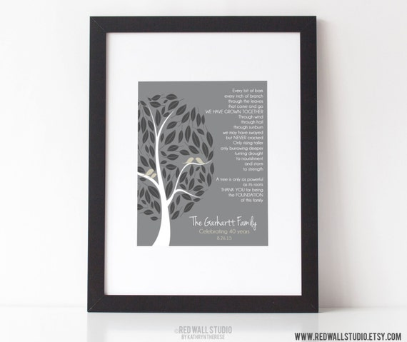 50th Wedding Anniversary Poems For Grandparents In Hindi: 30th 40th 50th Wedding Anniversary Gift By RedWallStudio