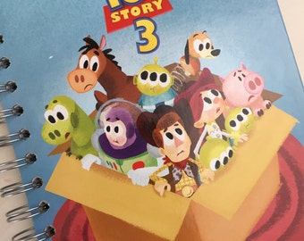 Toy Story 3 Little Golden Book Recycled Journal Notebook