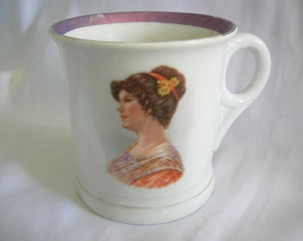 Tea Cup Coffee Mug | Female Portrait Motif | Vintage
