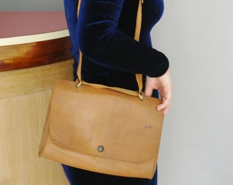 Vintage beige leather bag