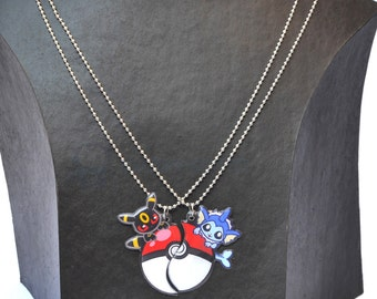 Eeveelutions Friendship necklaces