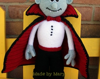 PDF PATTERN: Vladimir the Vampire Crochet Pattern **Crochet Pattern Only, Not Actual Doll**