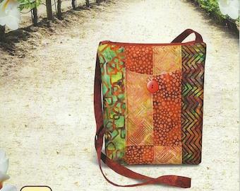 "Sonoma Swing Bag Pattern To Make DIY Sewing Pink Sand Beach Use 2 1/2"" Strips"