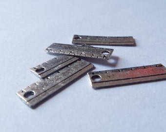 5 Pieces School Ruler Charm for Teacher Jewelry, Jewelry Making, Jewelry Supplies, Graduation Charms, Student Charms - C