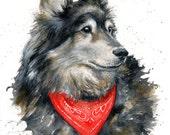 8x10 Original Custom Watercolour Pet Portrait