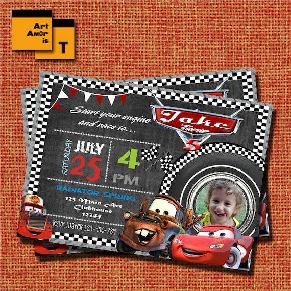 Cars Invitation Disney Cars Invitation Lightning Mcqueen