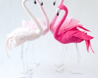 Stuffed Flamingo sewing pattern