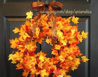 fall wreath Thanksgiving front door wreaths autumn wreaths fall outdoor wreaths, gift ideas