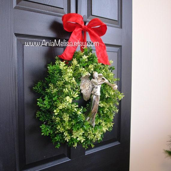 Items Similar To Christmas Wreath Boxwood Holidays Wraths