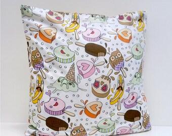 Ice Cream Crime Scene Pillow Cover