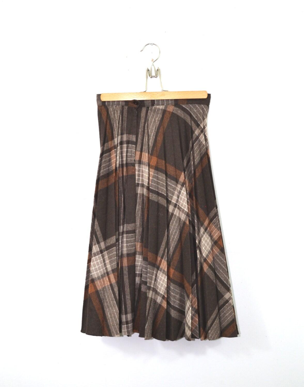 Long Plaid Skirt 53