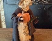 Primitive Handmade Halloween Mouse Miss Molly Mugwart