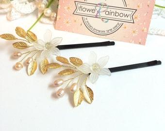 Bridal bobby pins x2, bobby pins wedding, pearl hair pins for bride, hair pins for wedding, hair accessories bridal, wedding bobby pins