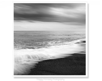Black and White Home Decor, Black and white art, Beach Wall Art,  Seascape, Beach Photography, Beach Living, Monochrome, Surf, Waves