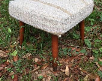 Vintage Danish Modern Footstool, Retro Foot stool