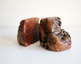 Burl Wood Bookends