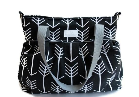 Black Arrow Diaper Bag