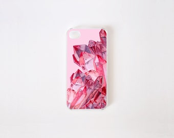 iPhone 4/4s Case - Pink Quartz iPhone Case - iPhone 4s case - iPhone 4 case - Hard Plastic or Rubber