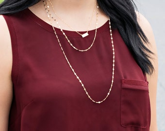 Gold Layered Necklace, Extra Long Layering Chain, Gold Sequin Necklace, Back Necklace, Jaclyn Hill, Gold Sparkle Chain, Silver Chain, Shiny