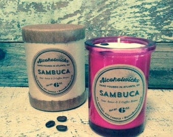Sambuca candle by Alcoholwicks- Star Anise candle