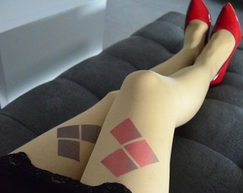 Harley Quinn Inspired Tights, Harley Quinn Costume, Halloween Costume