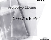 """100 - A6 size Crystal Clear Bags - 1.6 mil Polypropylene - 4-15/16"""" x 6-9/16"""" - Protective Closure - Fits Card with Envelope"""