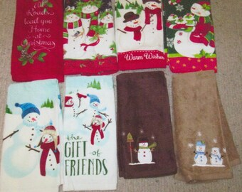 Crocheted  hang towels Christmas hanging towels