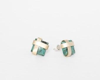 The Emma Studs - Turquoise